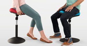 New Active Seating Alert: The E3 Crescent Saddle Stool and E3 Donut Stool Make Sitting Fun