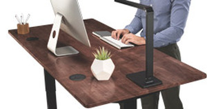 I Love Your Top! Eco-Friendly Dark Brown Rubberwood Desktops Make Their Desk Debut
