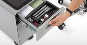 Improve Storage in Tight Spaces with the Narrow 2-Drawer File Cabinet with Seat