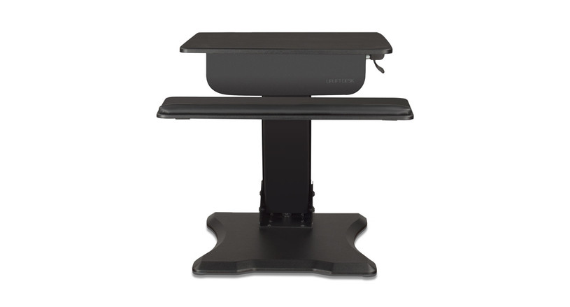 Standing desk converter riser or clamp