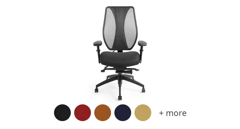 The ergoCentric tCentric Hybrid Chair is available in many different color options