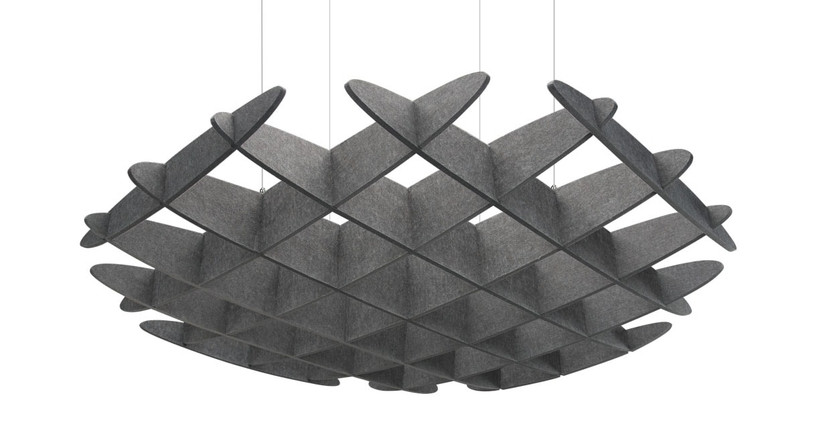 The 3D Acoustic Ceiling Waffle Cloud, Large delivers more sound absorption to offices and work areas everywhere