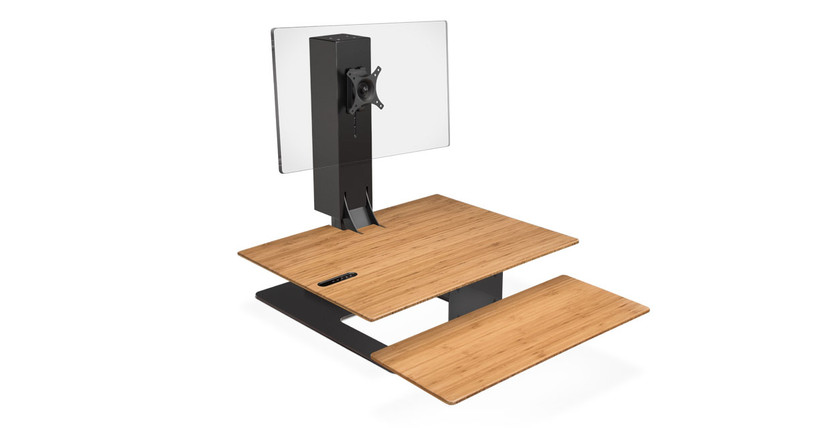 The E7 Electric Standing Desk Converter gets you standing, no matter what your current desk setup