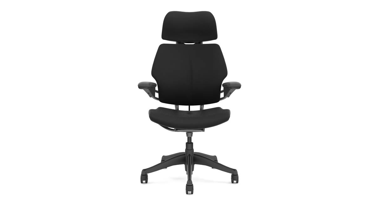 Humanscale Freedom Chair With Headrest Uplift Desk