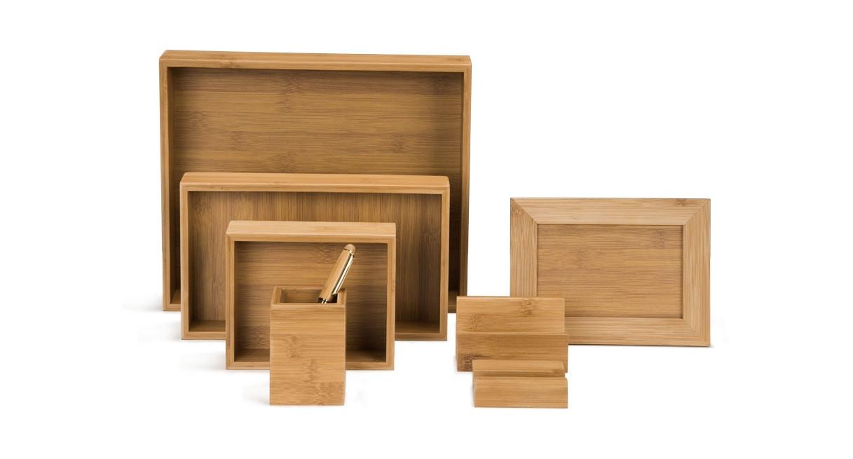 Bamboo Desk Organizer Set Shop Uplift Desk