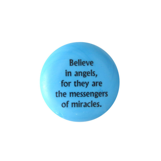 Believe in angels, for they are the... Glass Stone from Lifeforce Glass