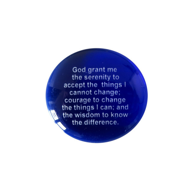 God grant me the serenity to accept the things I cannot change; Courage to change the things I can; And the wisdom to know the difference.