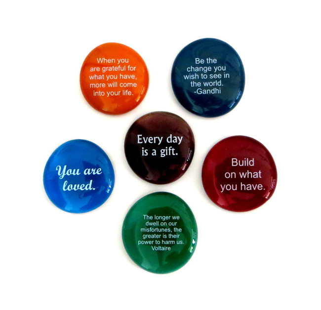 Encouragement Stones, set of six... From Lifeforce Glass