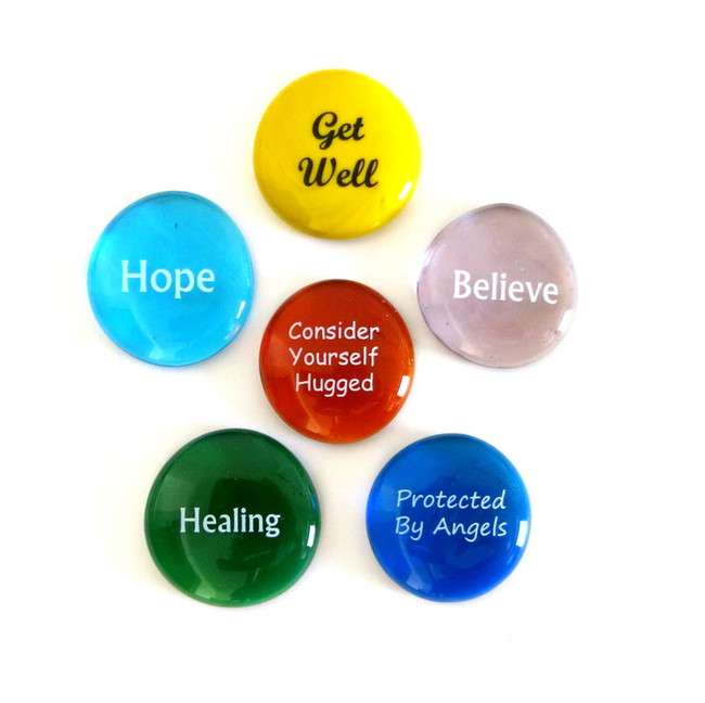 Get Well Stones, set of six... From Lifeforce Glass