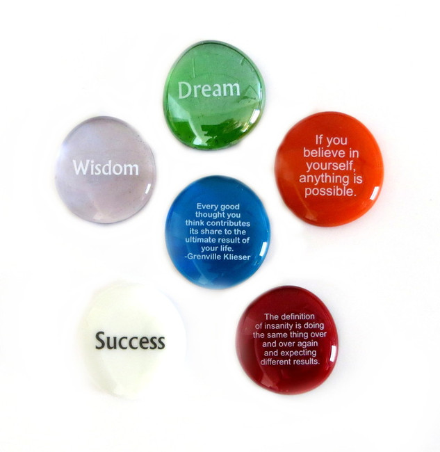 Inspiration Stones, set of six... From Lifeforce Glass