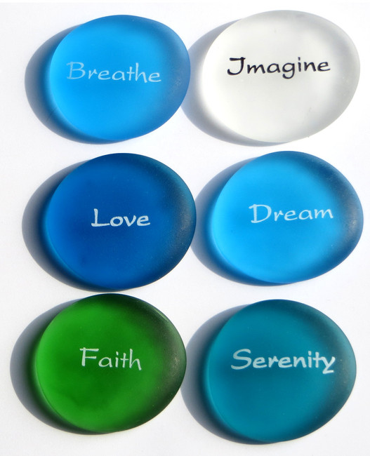 The Mermaid's Message Replica Sea Glass Stones, set of six, Set II