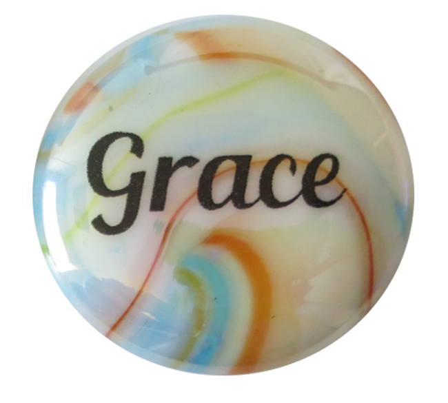 Festival Glass Grace Stone from Lifeforce Glass, Inc.