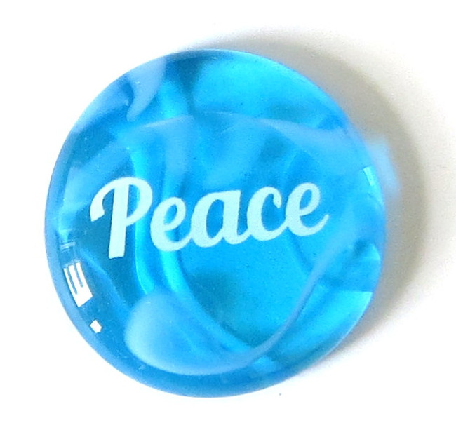Festival Glass Peace from Lifeforce Glass, Inc.