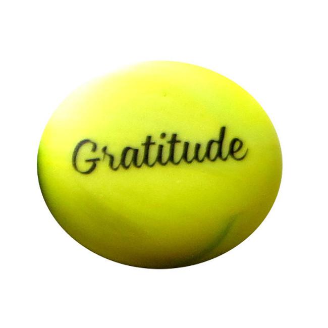 Sea Stone, Gratitude, from Lifeforce Glass, Inc.