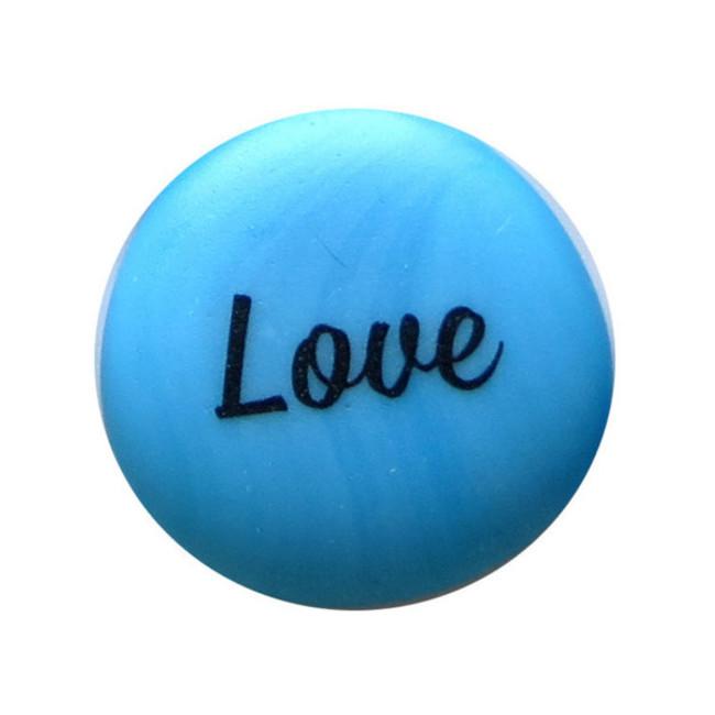 Love Sea Stone from Lifeforce Glass, Inc.