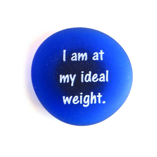 I am at my ideal weight Affirmation magnet by Lifeforce Glass, Inc.