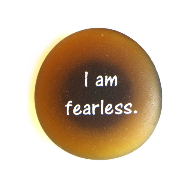 Affirmation Magnet, I am fearless. By Lifeforce Glass, Inc.