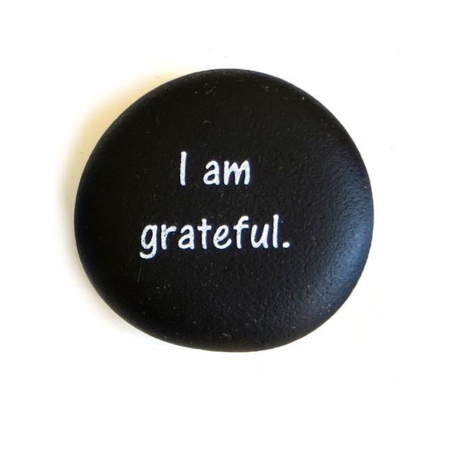 Affirmation Magnet, I am grateful. By Lifeforce Glass, Inc.
