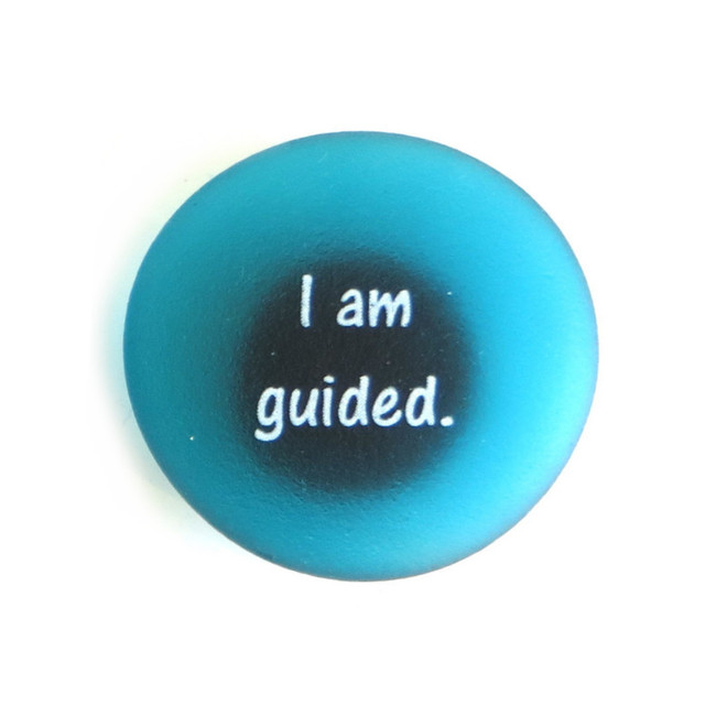Affirmation Magnet, I am guided. By Lifeforce Glass, Inc.
