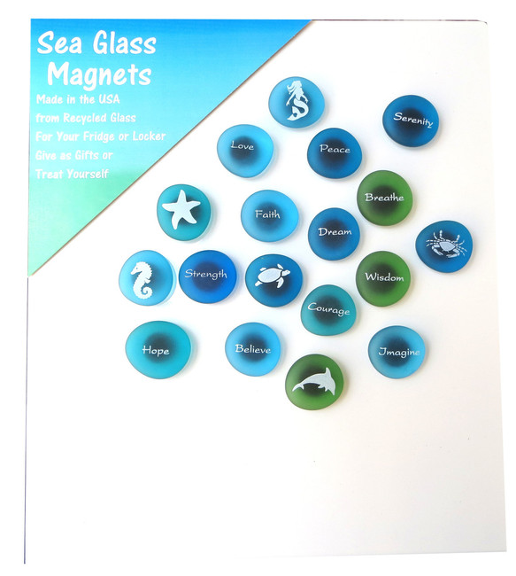 The Mermaid's Message Magnet Assortment from Lifeforce Glass, Inc.