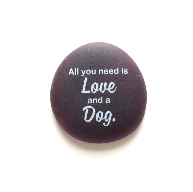 All you need is love and a dog from Lifeforce Glass, Inc.