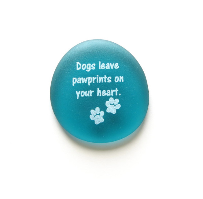Dogs leave pawprints on your heart. From Lifeforce Glass, Inc.