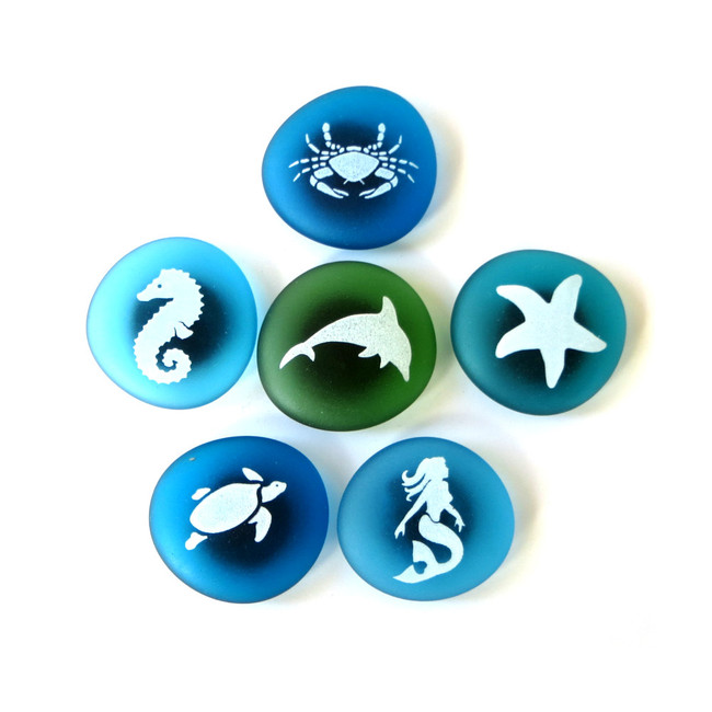 Sea Life Magnets from Lifeforce Glass