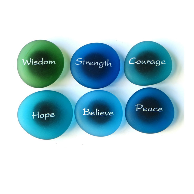 The Mermaid's Message Magnets Set I, set of six... From Lifeforce Glass