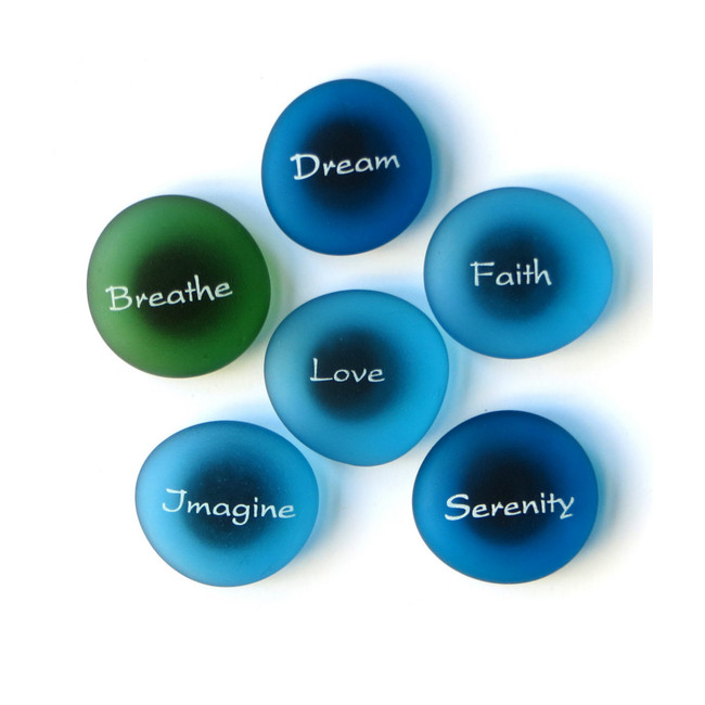 The Mermaid's Message Magnets, Set II from Lifeforce Glass