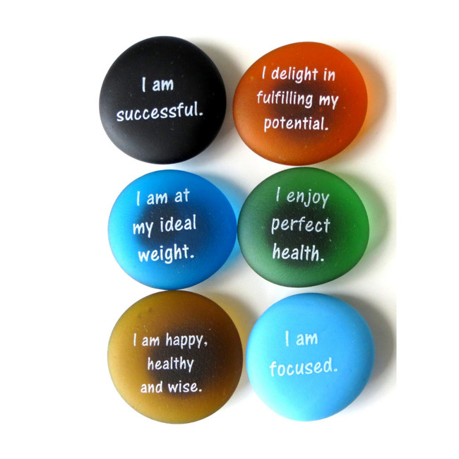 Affirmation Magnets Set 4 from Lifeforce Glass, Inc.