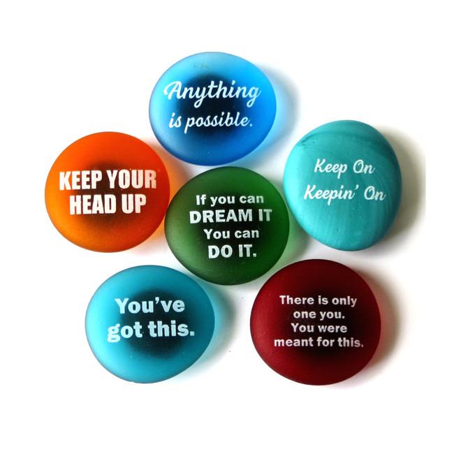Inspiration Magnets Set II, set of six... From Lifeforce Glass