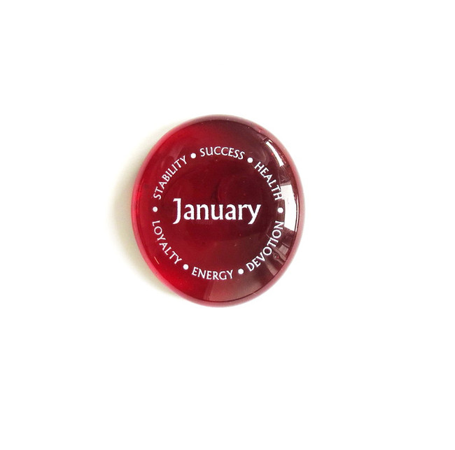 January Birthstone from Lifeforce Glass, Inc.