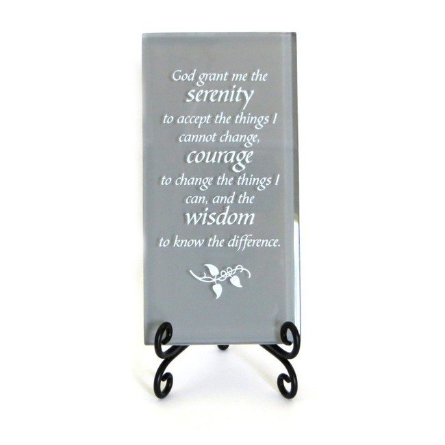 The Serenity Prayer Inspirational Plaque from Lifeforce Glass