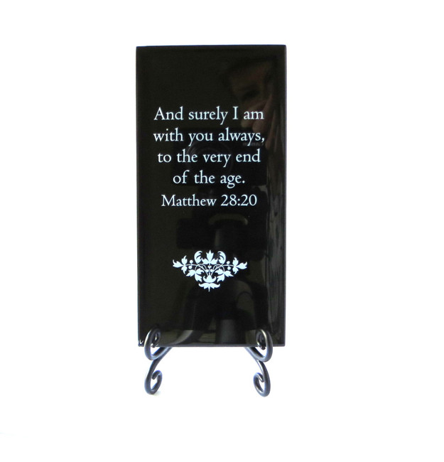 And surely I am with you always Inspirational Glass plaque from Lifeforce Glass