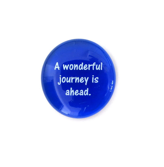 A wonderful journey is... Glass Stone From Lifeforce Glass