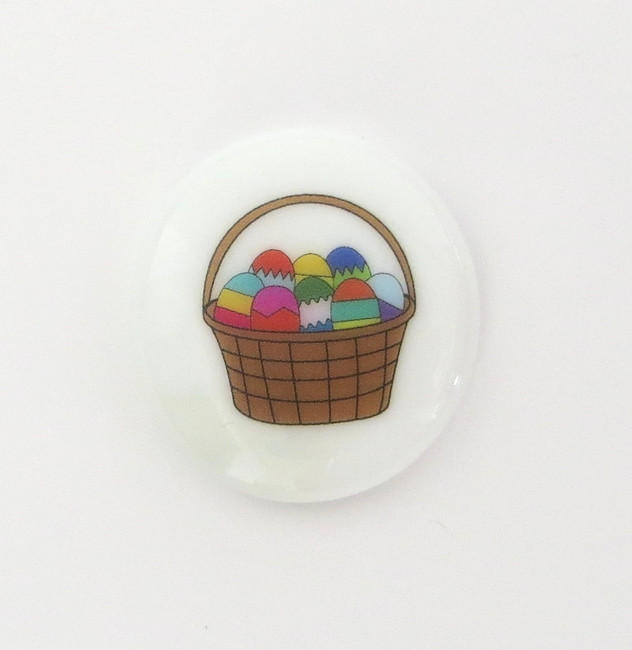 Easter Egg Basket Glass Stone from Lifeforce Glass