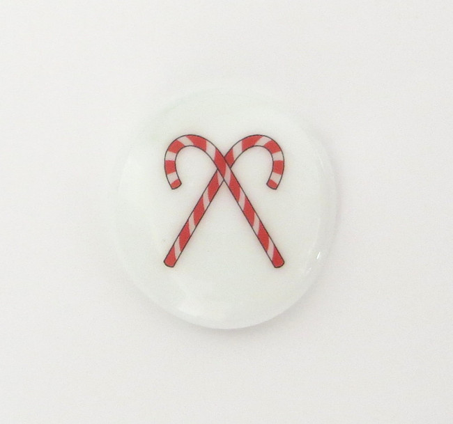 Candy Canes Glass Stone from Lifeforce Glass