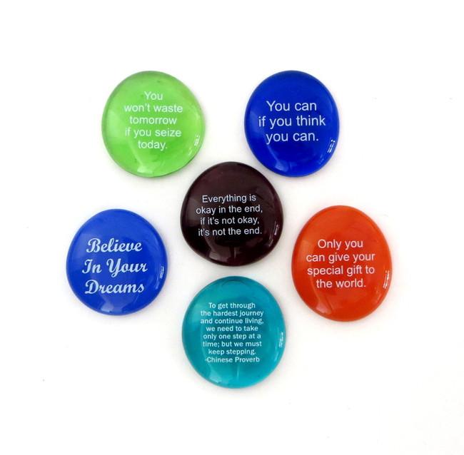 Motivation II Stones, set of six... From Lifeforce Glass