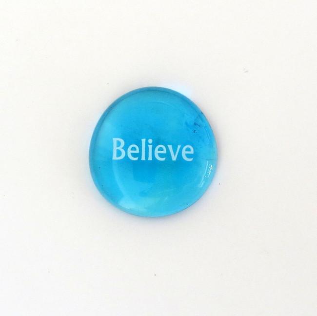 Believe Glass Stone from Lifeforce Glass