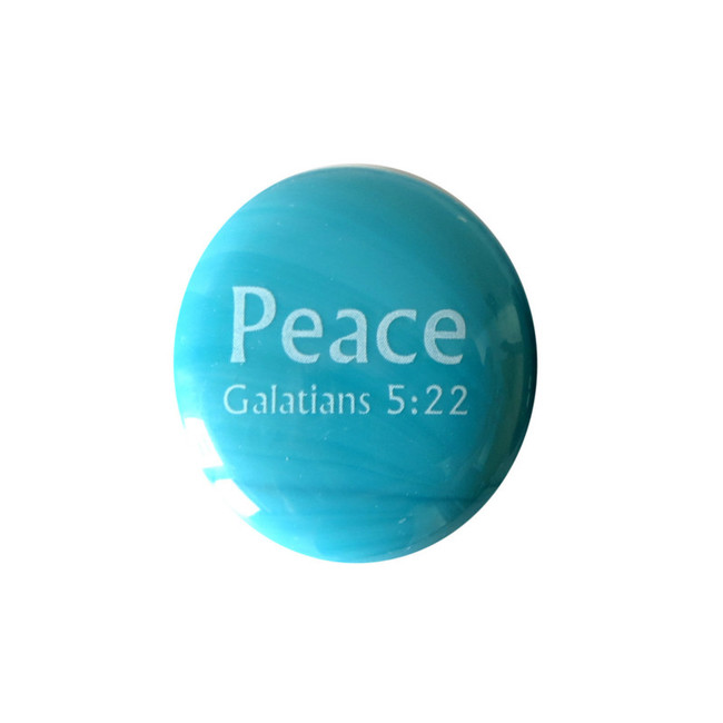 Fruit of the Spirit- Peace... Glass Stone from Lifeforce Glass