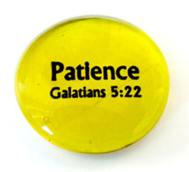Fruit of the Spirit Glass Stone- Patience