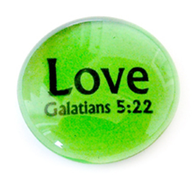 Fruit of the Spirit Glass Stone- Love