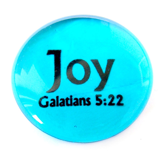 Fruit of the Spirit Glass Stone- Joy
