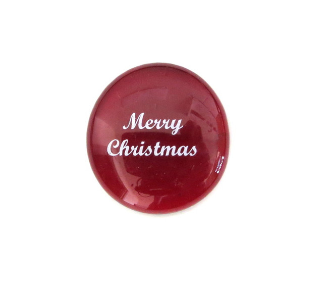 Merry Christmas... Glass Stone from Lifeforce Glass