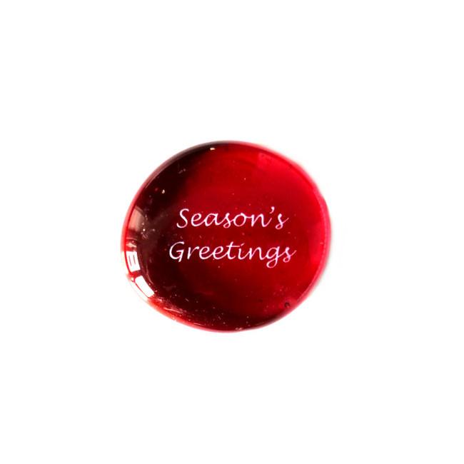 Season's Greetings... Glass Stone from Lifeforce Glass