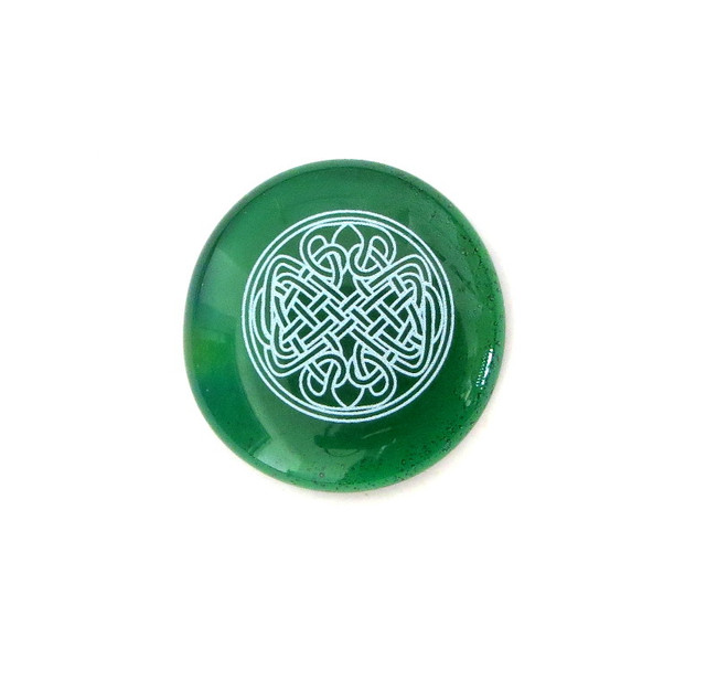 Celtic Knot... Glass Stone from Lifeforce Glass