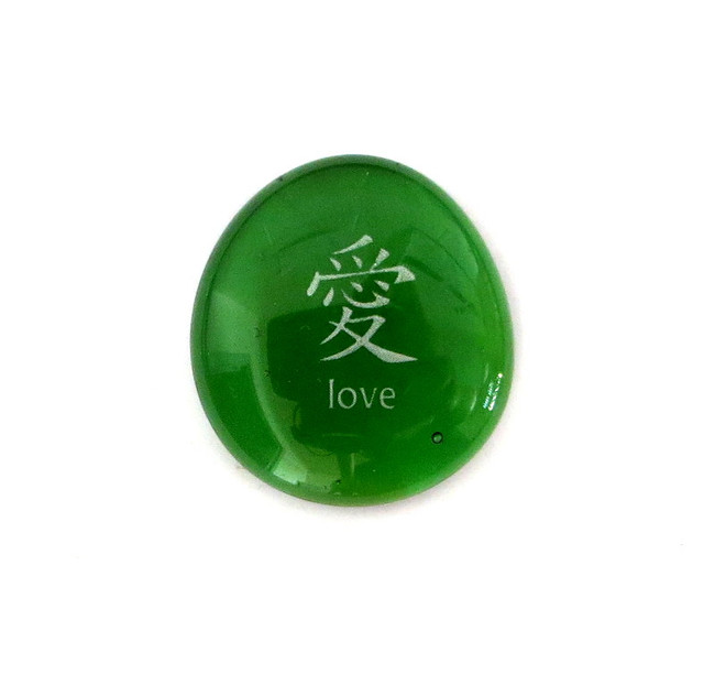 Chinese Love... Glass Stone from Lifeforce Glass