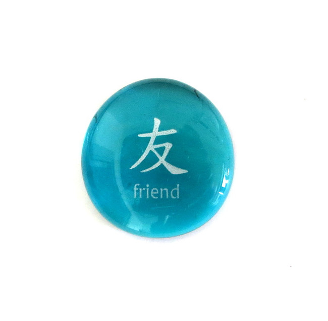 Chinese Friend... Glass Stone from Lifeforce Glass