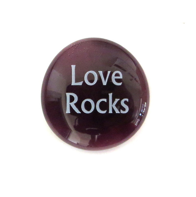 Love Rocks... Glass Stone From Lifeforce Glass