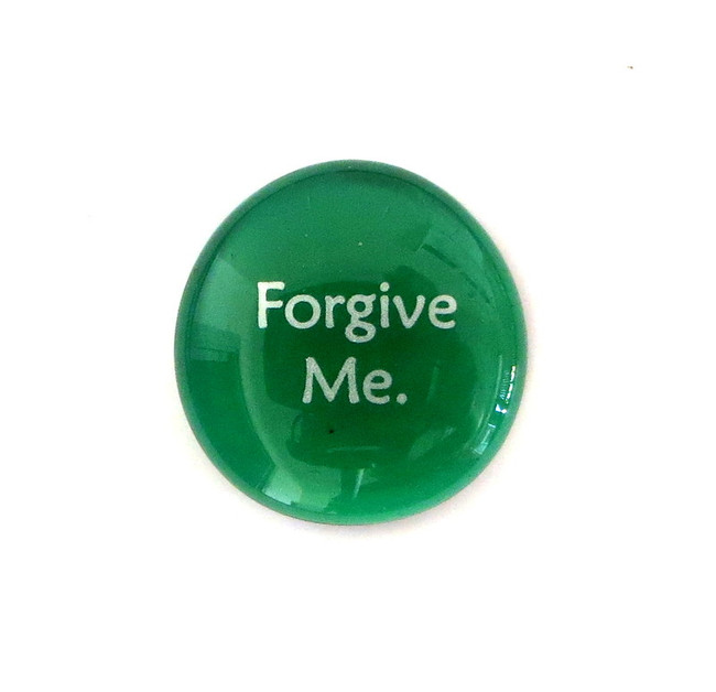 Forgive Me... Glass Stone From Lifeforce Glass
